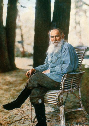 Лев Николаевич Толстой (Фотограф: Проскудин-Горский, 1908 год)